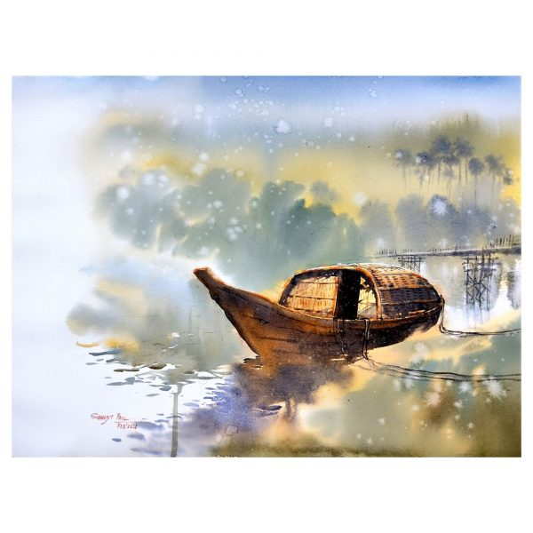 PANSI, the boat - Watercolour - 30 X 22 inch