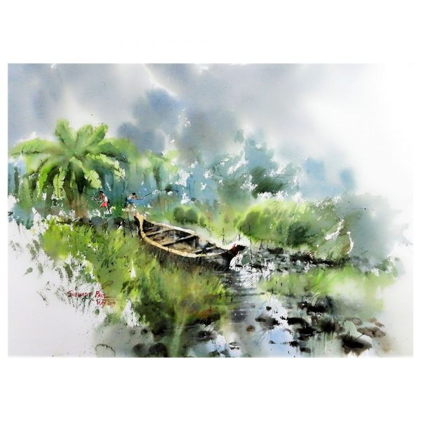 Onset of Monsoon - Watercolour - 30 X 22 inch