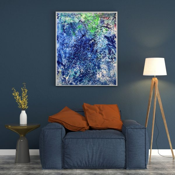 Water Crystals - Acrylic on Canvas - 48_x64 (Inch.)
