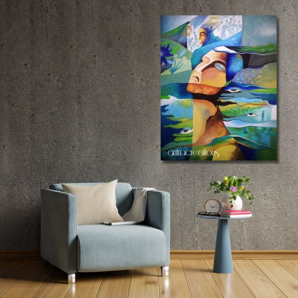 Realism of Dreams_Acrylic on Canvas_30x18 (inch)