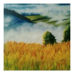 RISING MIST - 24 x 24inches - Oil on Stretched Canvas