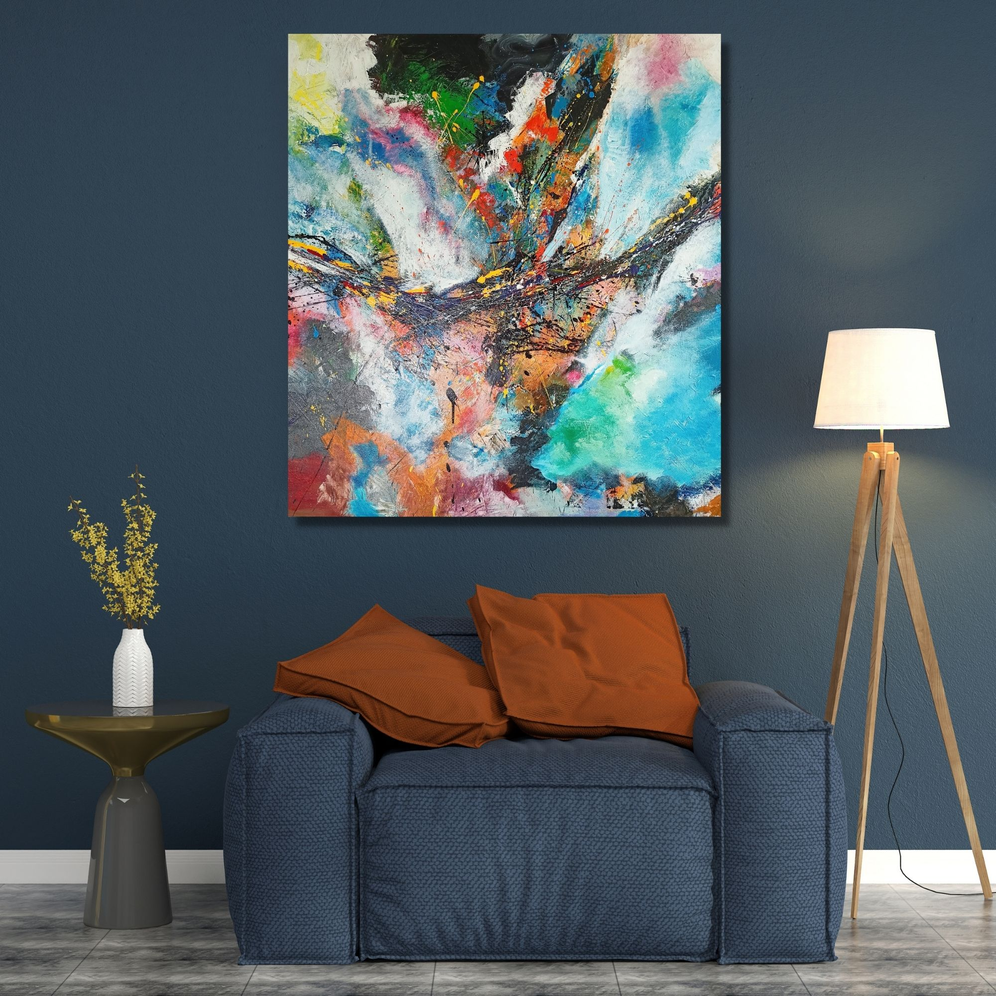 Melody of Color_Acrylic on Canvas_48 X 48 (Inch)