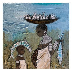 African Lifestyle 2_Acrylic on Canvas_12X12 (Inch)