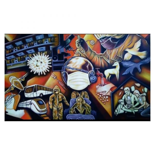 Heal the World-Oil on Canvas-36X60 Inch