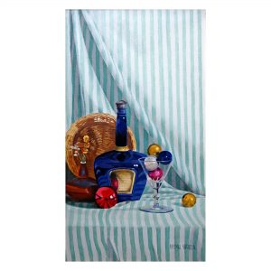 The Blue Bottle_Oil on Canvas_16x30 (inches)