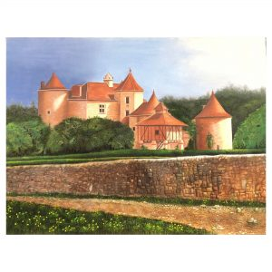 Chateau-48x36 Inch_oil on canvas