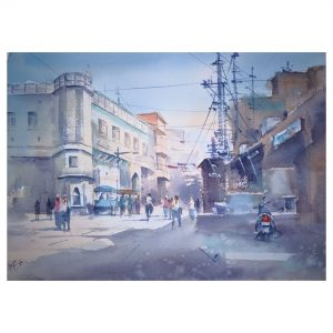 Day light - Watercolor on Handmade (300 gsm) - Size - 20 x 15 Inch