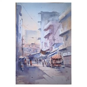 Alley-III Watercolor on Handmade (300 gsm) - Size - 20 x 15 Inch