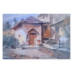 Temple - Watercolor on Handmade (300 gsm) - Size - 20 x 15 Inch