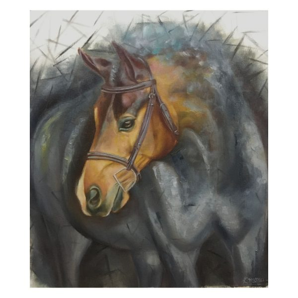 Horse Symbol of freedom and courage-Mix Media-16X18 Inch