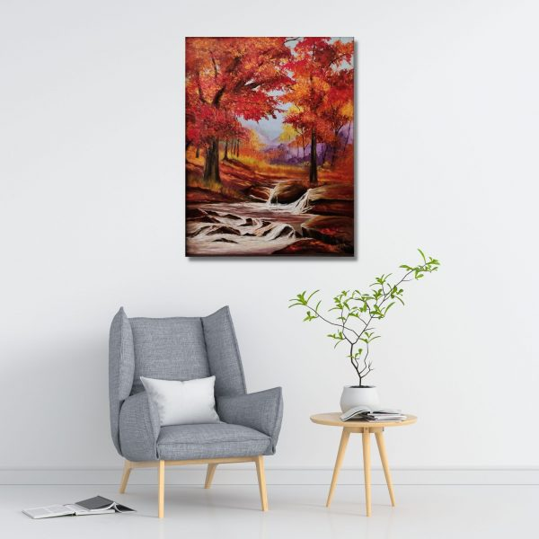 Autunm Leaves-Oil on Canvas-Stretch-24x30 Inch