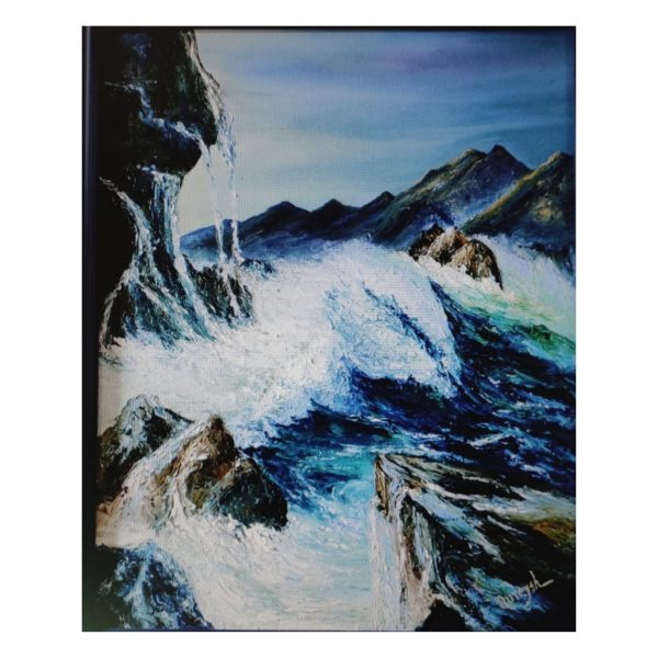 The Stormy Sea-Oil on Canvas Stretch-27x30 Inch