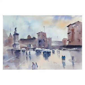 Rome - Watercolor on Handmade (300 gsm) - Size - 15 x 11 Inch