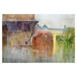 Cultural Heritage 3-Watercolor on Fabriano 300GSM Paper-22x38 Inch