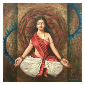 Dhyanam- Oil on Canvas 24x24 Inch