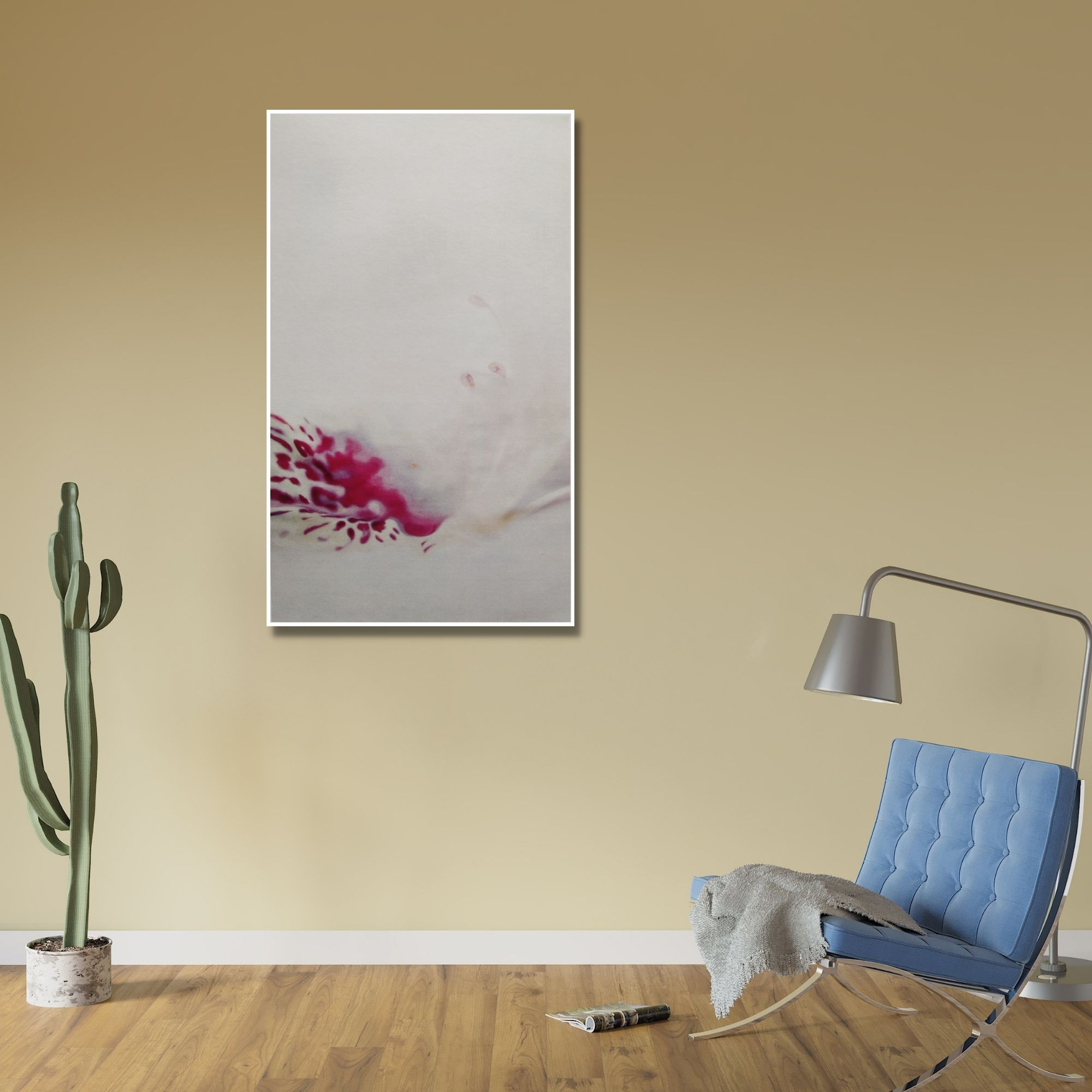 Pink Hibiscus_Oil on Canvas_53x30 (Inch)