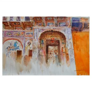 Cultural Heritage 2-Watercolor on Fabriano 300GSM Paper-22x38 Inch