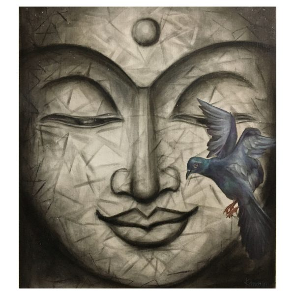 Freedom-Buddha-Free Yourself To Find Yourself-Mix Media-16X20 Inch