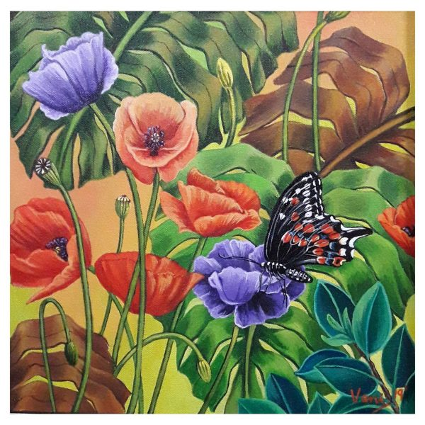Butterfly (Vol 6) - Acrylic on Canvas - 12x12 Inch
