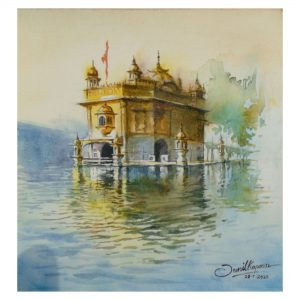 Golden Temple_Watercolor on Paper_12x12 (Inch)
