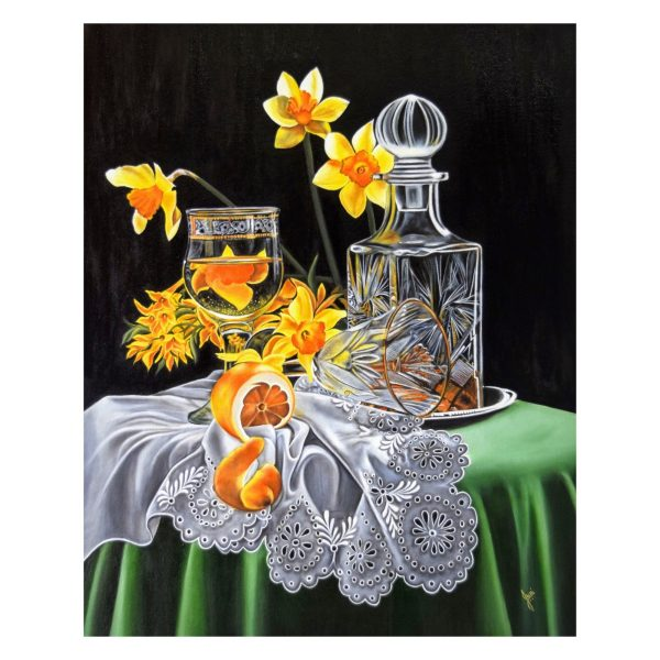 Cutglass and Lights with Yellow Delights-36x24 Inch