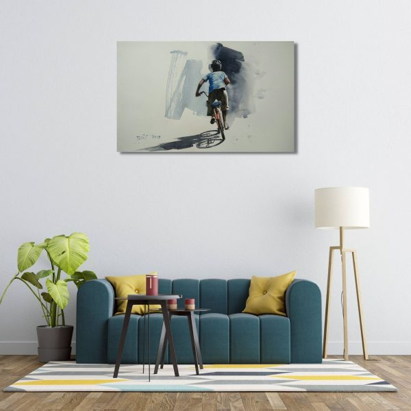 A Bicycle Story-Watercolor on Fabriani Paper-22x15 Inch