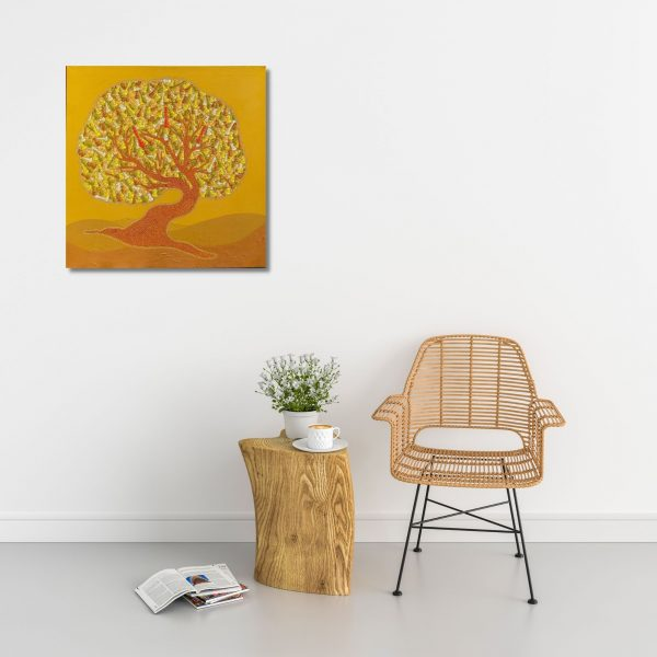 The Making King Tree-Acrylic on Canvas-36x36 Inch