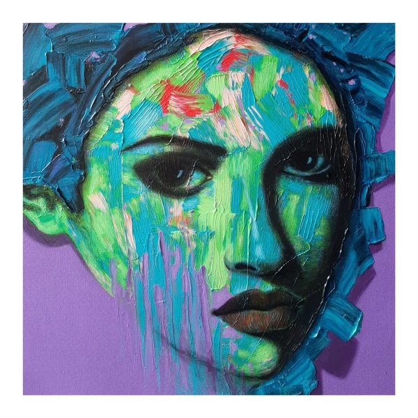 Sepia Rose is not always Antique_Acrylic on Handmade Paper_11x15 (inch)
