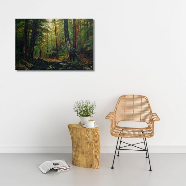 Fascinating Woods-Oil on Canvas-36x54 Inch