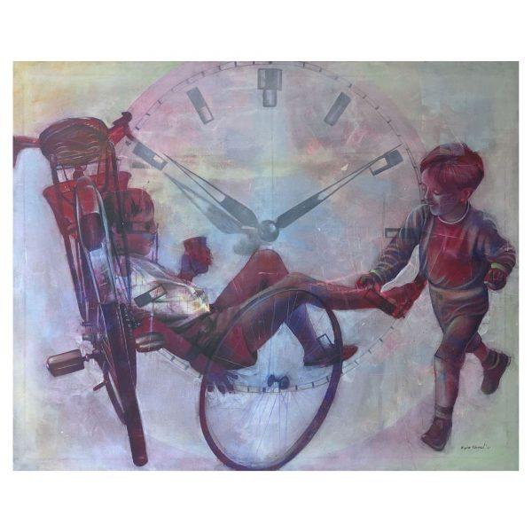 Time Runing-Acrylic on Canvas-59x47 Inch