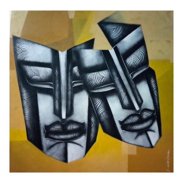 Face of Love-1-Acrylic on Canvas-36x36 Inch
