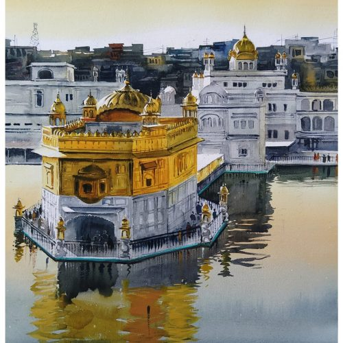 Golden Temple | Watercolor Painting by Ranjeet Singh