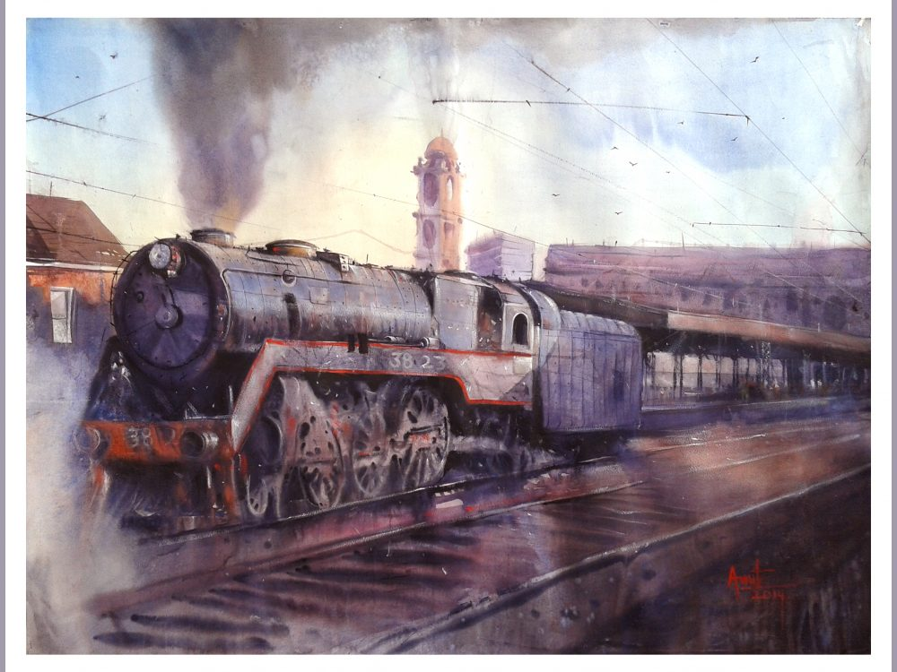 Old Engine_48X36 inches