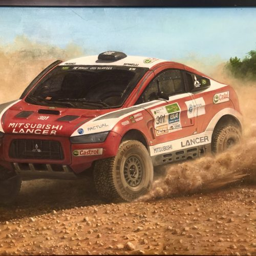 Rally Car | Oil Painting by Chikita Patel | 36x24 - 24