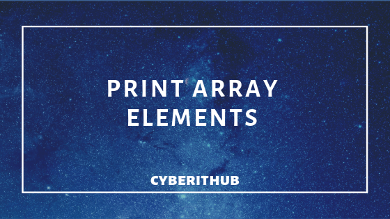 How to Print Array in Bash Shell Script 1