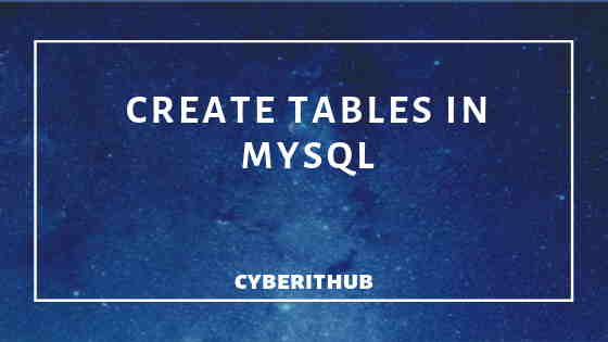 How to Create Table in MySQL 5.5 with Easy Steps 1