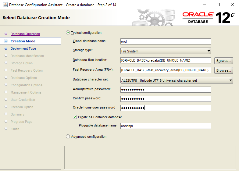 Best Steps to Create a Database in Oracle DB 12c 3