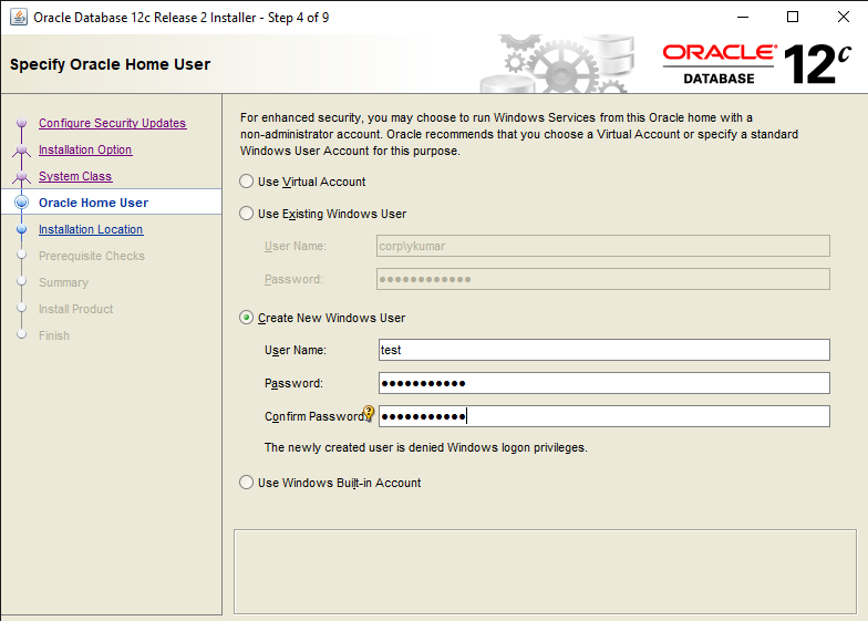 Easy steps to Install Oracle Database 12c in Windows 10 6