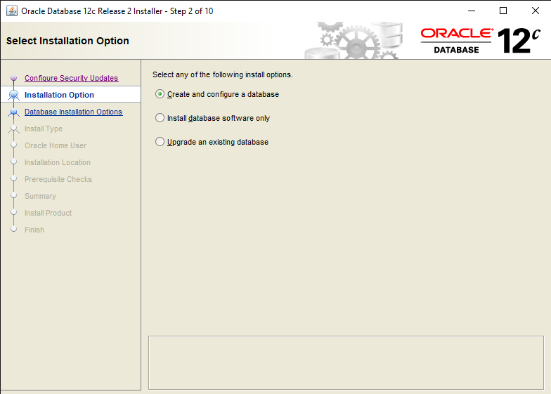 Easy steps to Install Oracle Database 12c in Windows 10 4