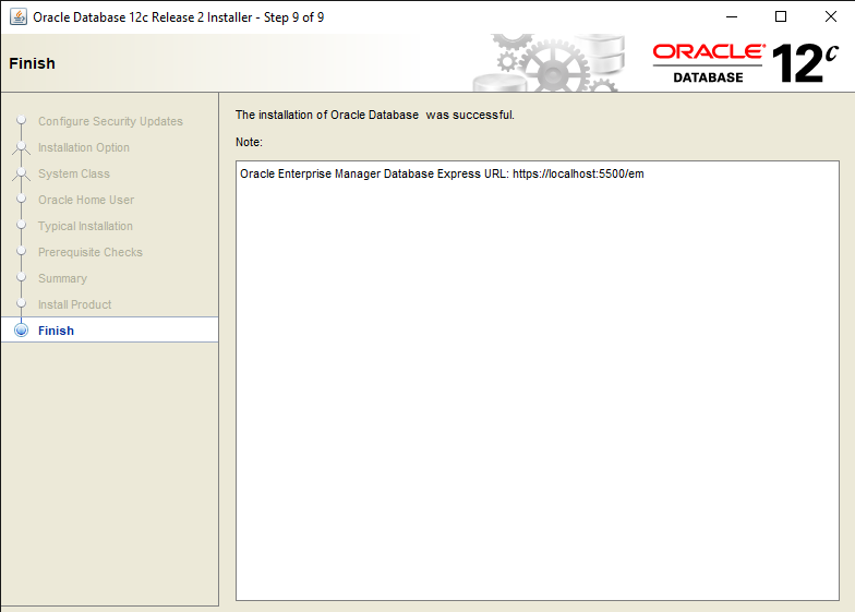 Easy steps to Install Oracle Database 12c in Windows 10 10