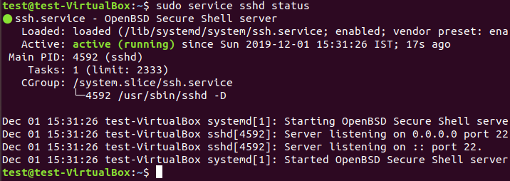 How to Install or Enable ssh on Ubuntu(18.04/17.04/16.04) 4