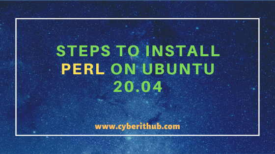 Best Steps to Install Perl on Ubuntu 20.04 1