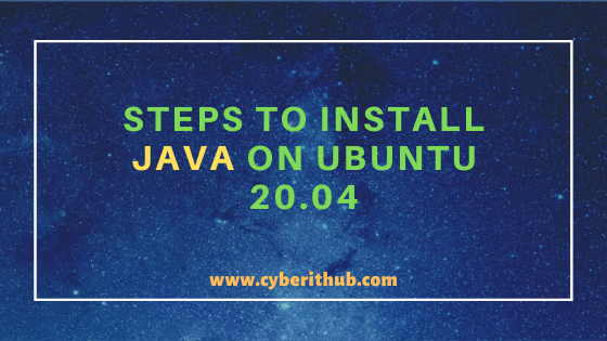 Easy Steps to Install Java on Ubuntu 20.04 1
