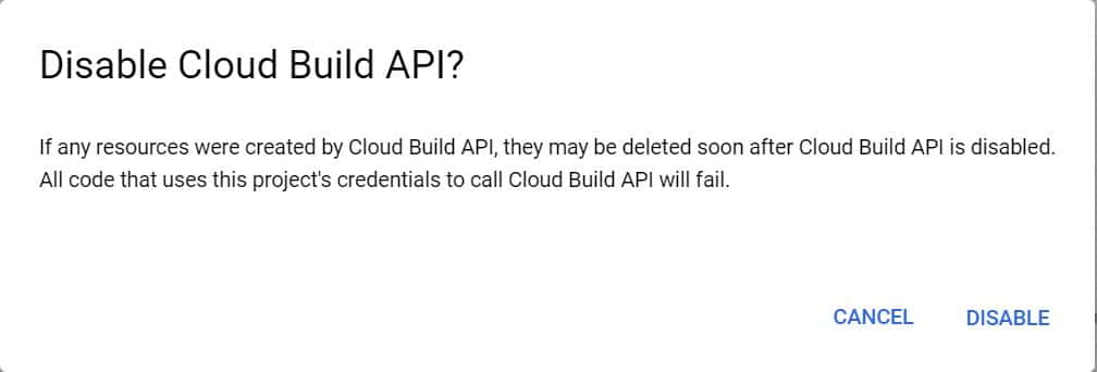How to Disable Cloud Build API in Google Cloud(GCP) Using 5 Simple Steps 6