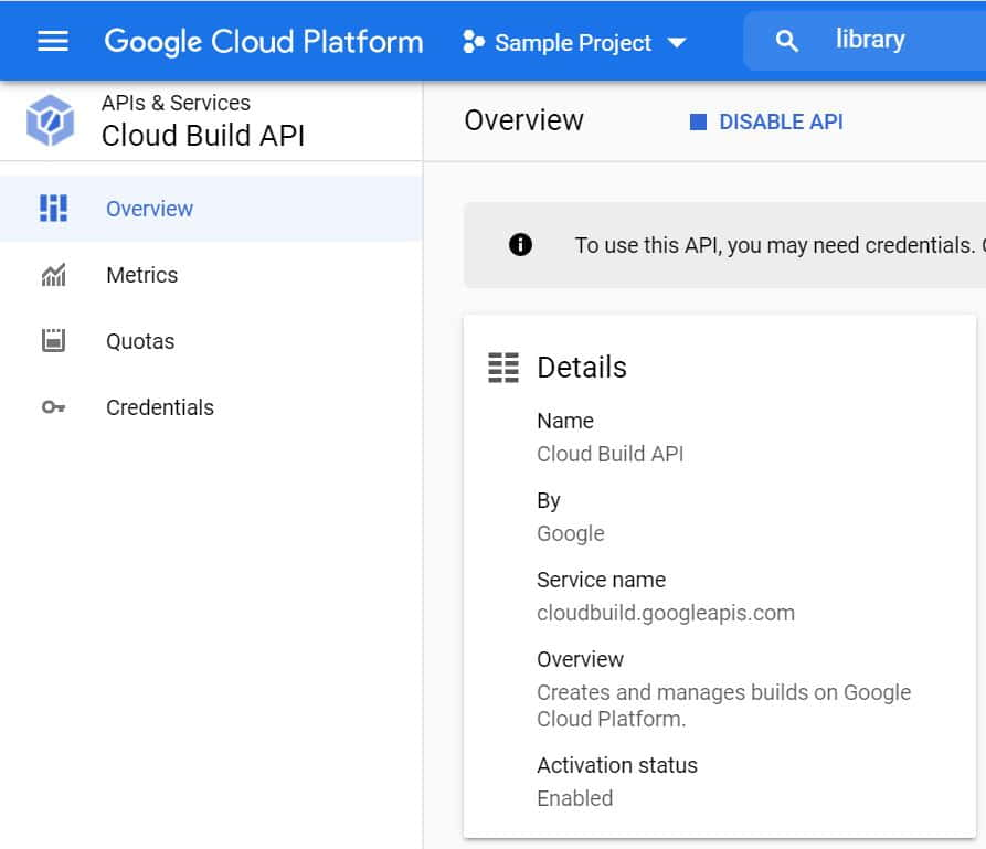 How to Disable Cloud Build API in Google Cloud(GCP) Using 5 Simple Steps 5