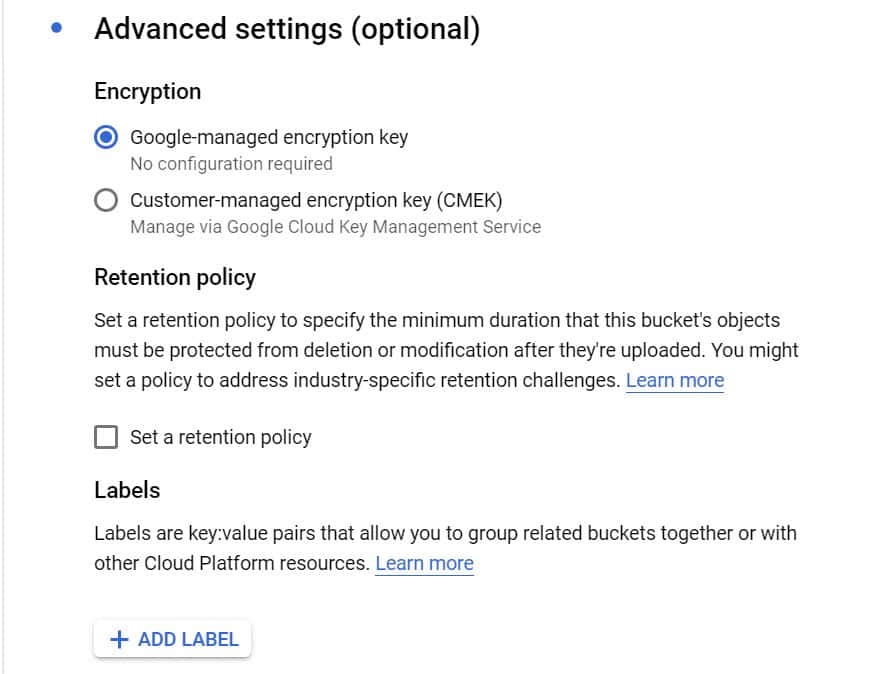 Step by Step Guide to Create a Bucket in Google Cloud Storage 7