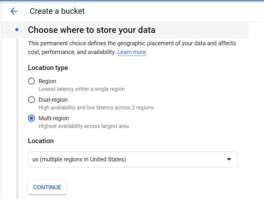 Step by Step Guide to Create a Bucket in Google Cloud Storage 4