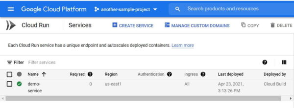Deploy a Container to Multiple GCP Projects and Host with Cloud Run 3