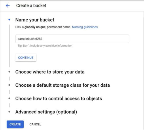 Step by Step Guide to Create a Bucket in Google Cloud Storage 3