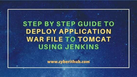 Deploy Application war file to Tomcat Using Jenkins in 9 Simple Steps 7